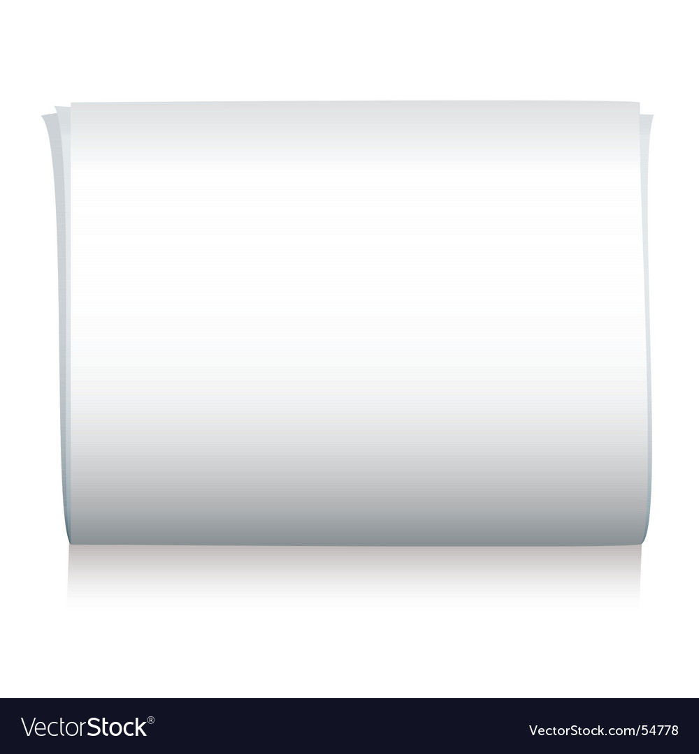 Newspaper blank vector