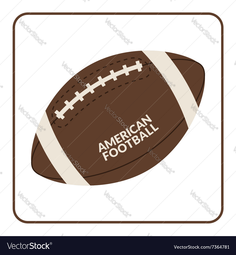 Ball for american football isolated on a white vector