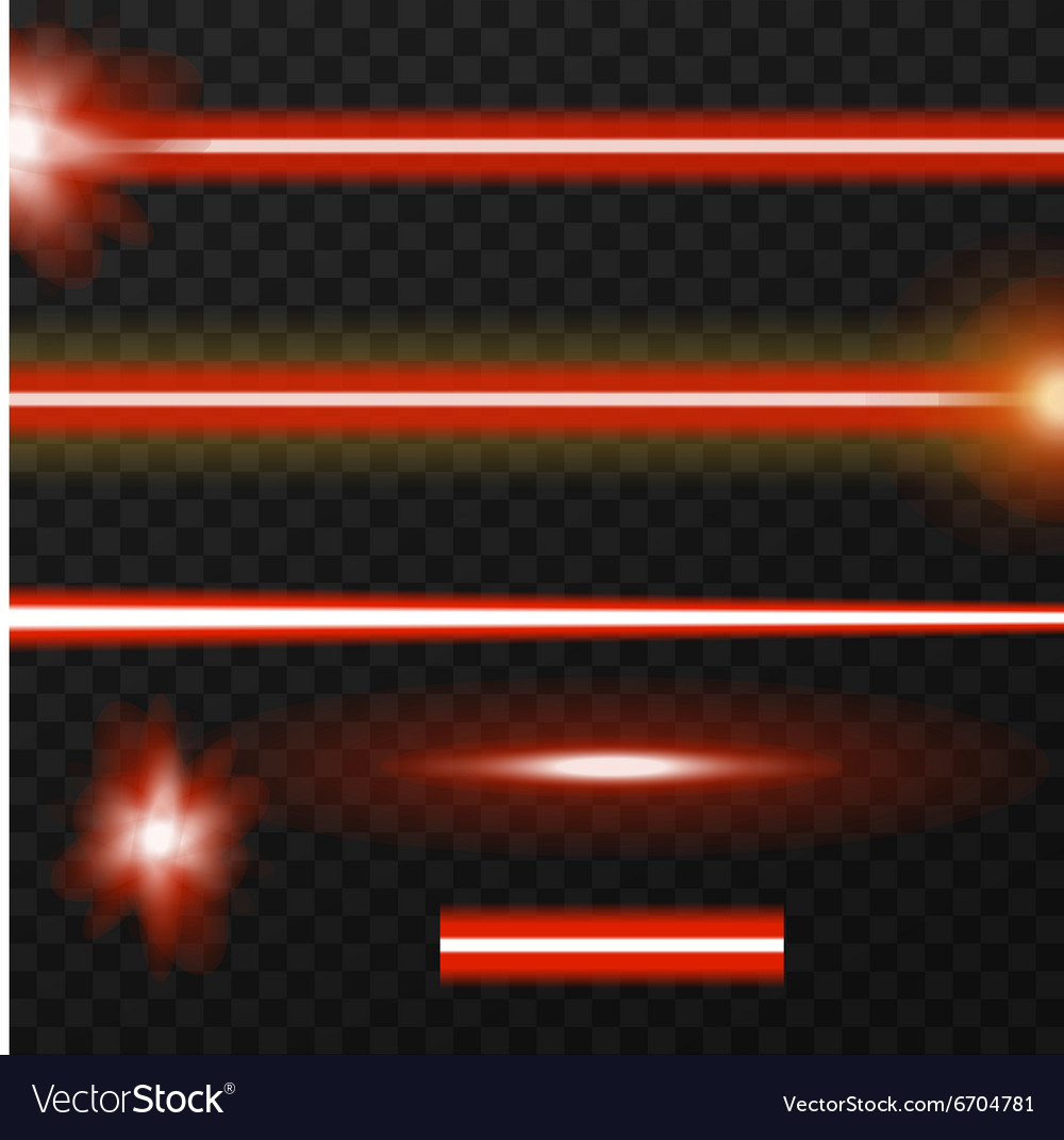 Laser beams pack vector
