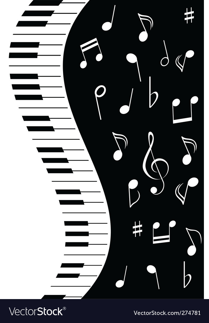 Music piano note vector