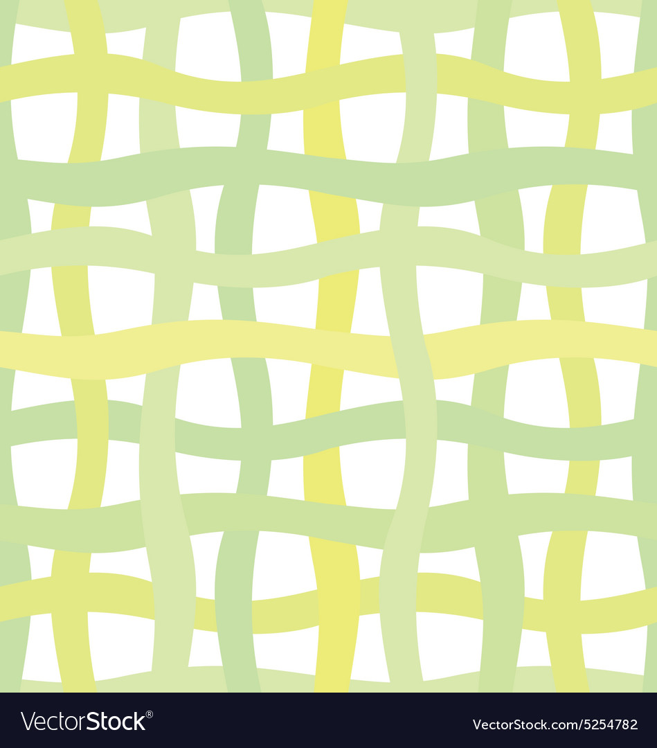 Green wave grid seamless vector