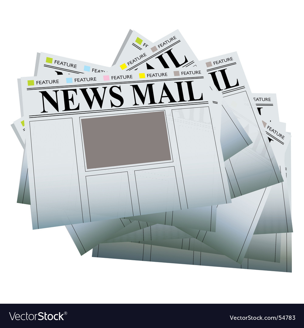 Newspaper pile vector