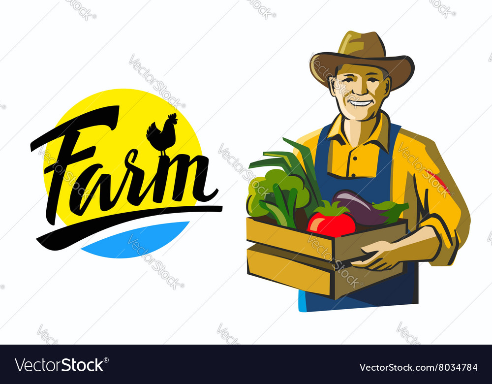 Color black farmer vector
