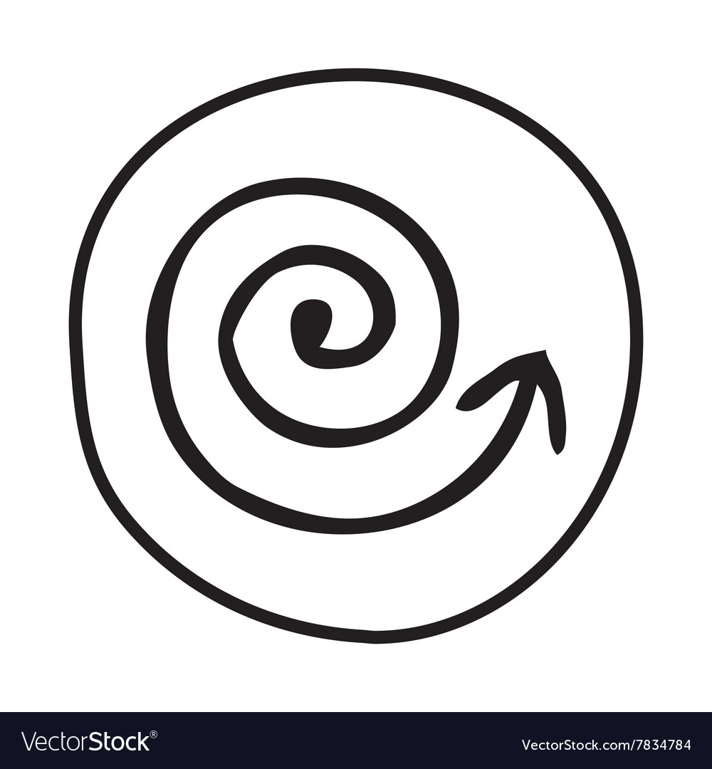 Doodle coil arrow icon vector