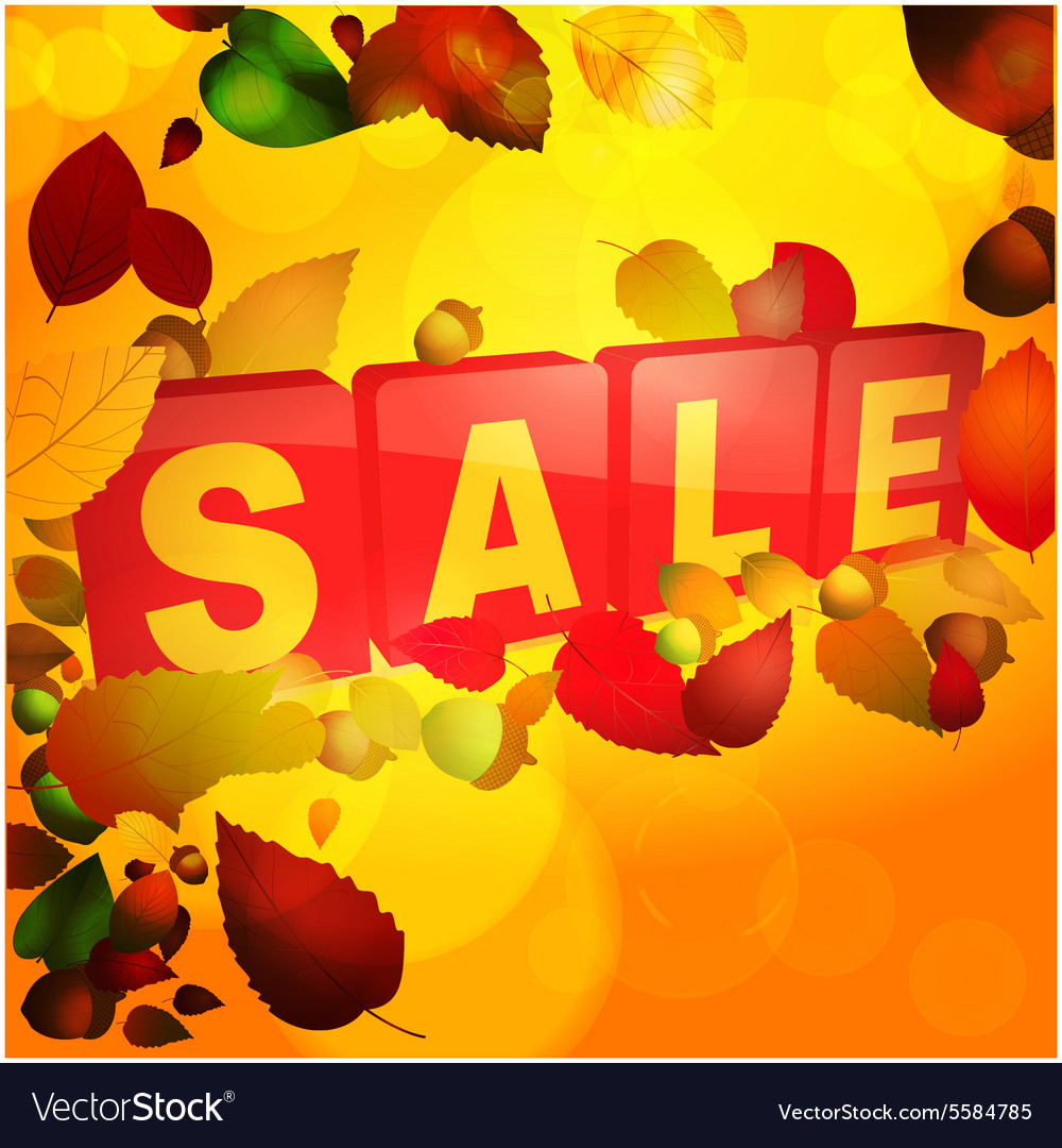 Autumn sale tabs background vector