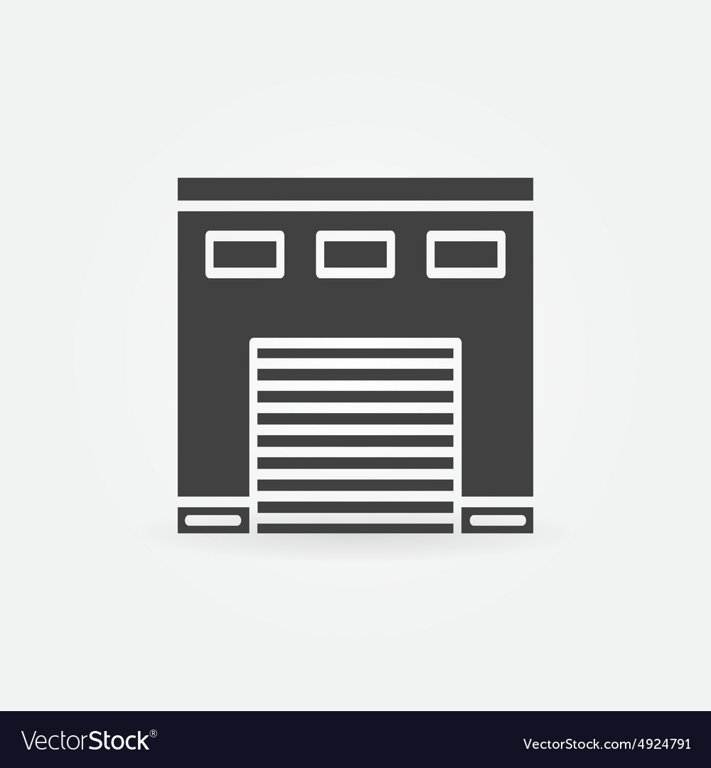 Car garage icon vector