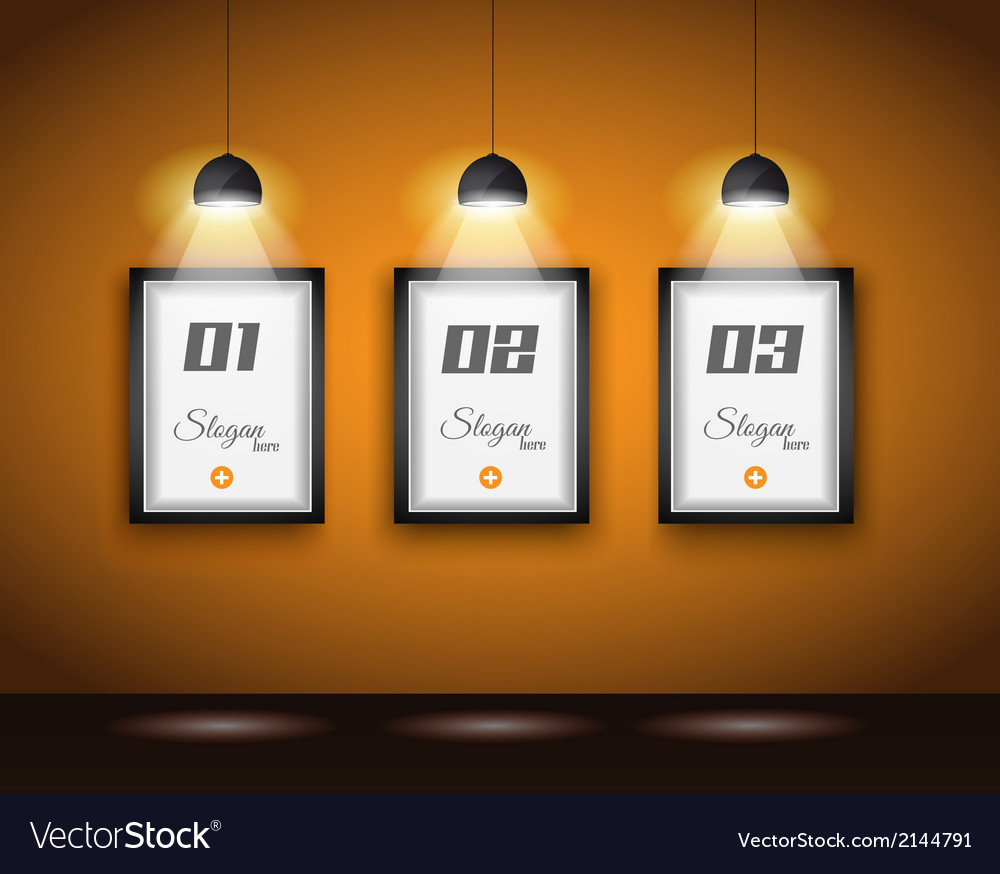 Original infographics  interior art gallery with vector
