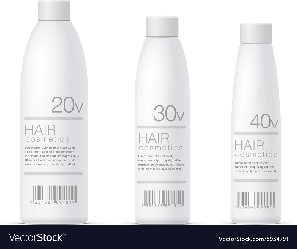 White realistic cosmetics bottle set vector