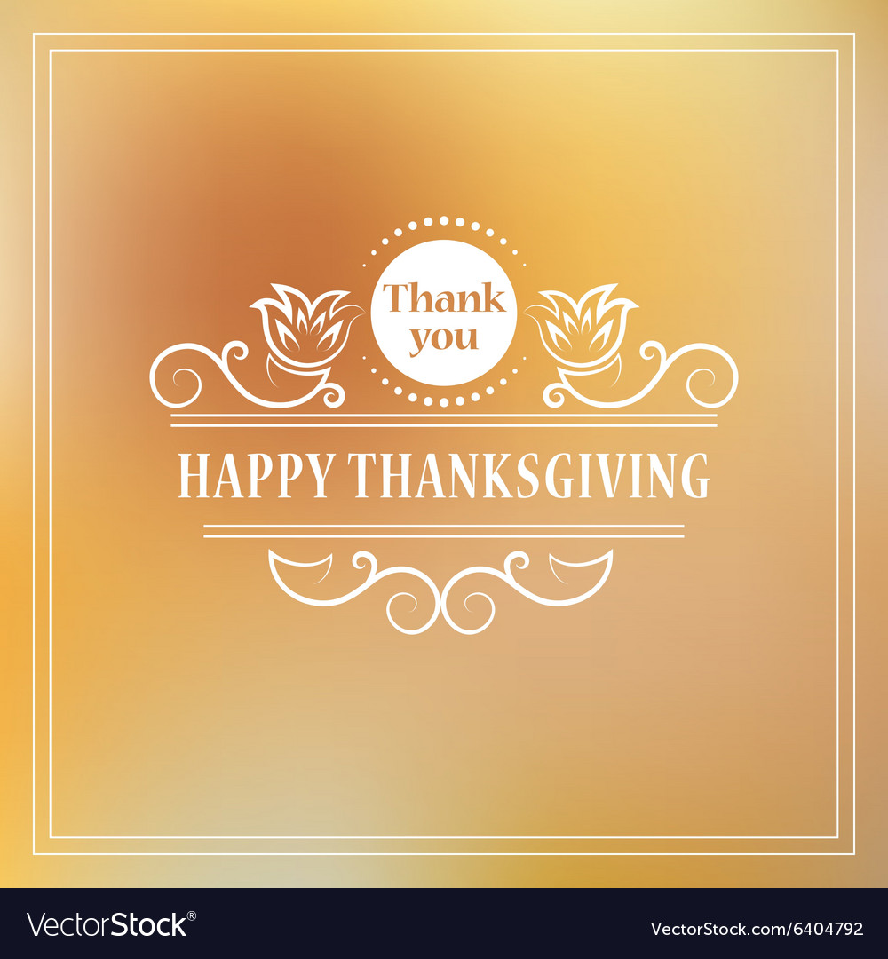 Happy thanksgiving vintage calligraphic elements vector