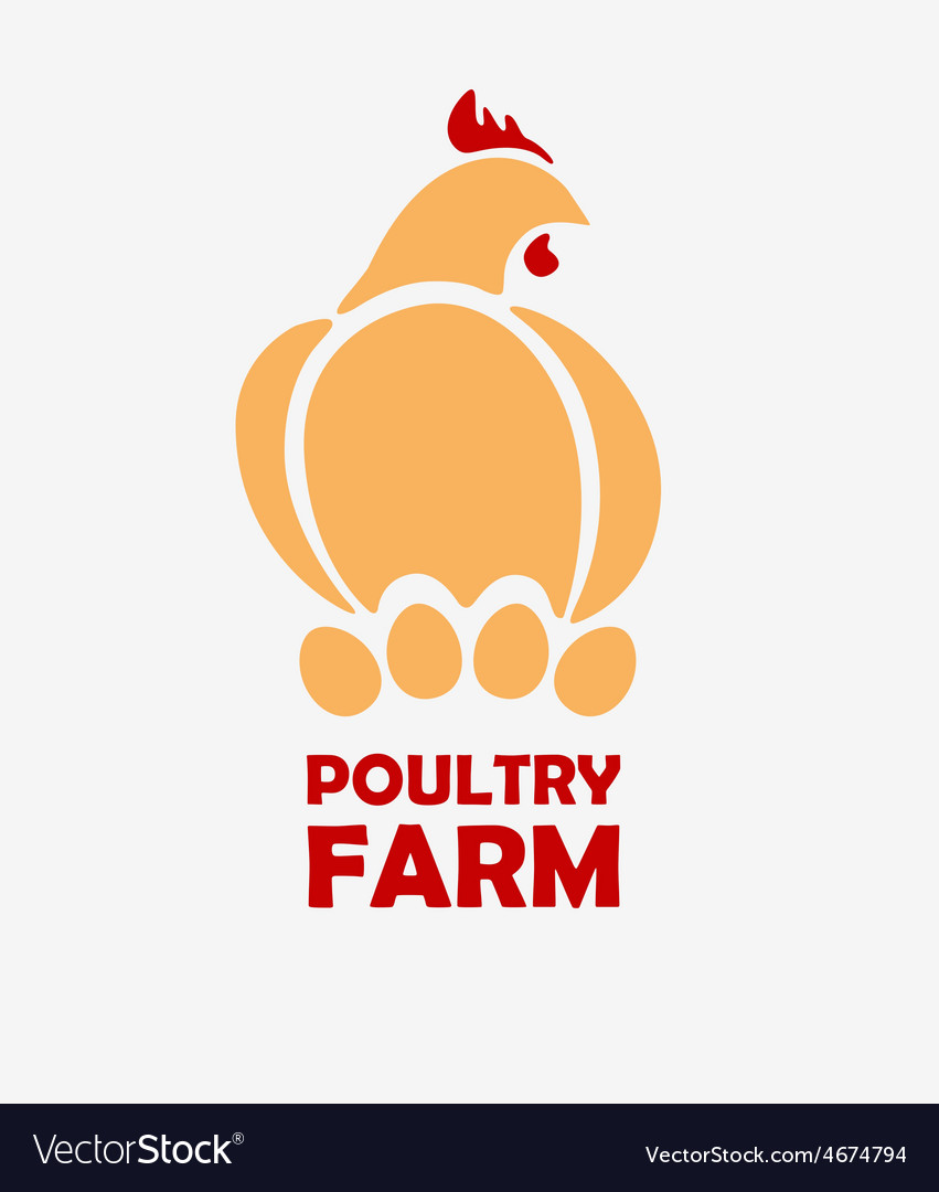 Chicken logo design template vector