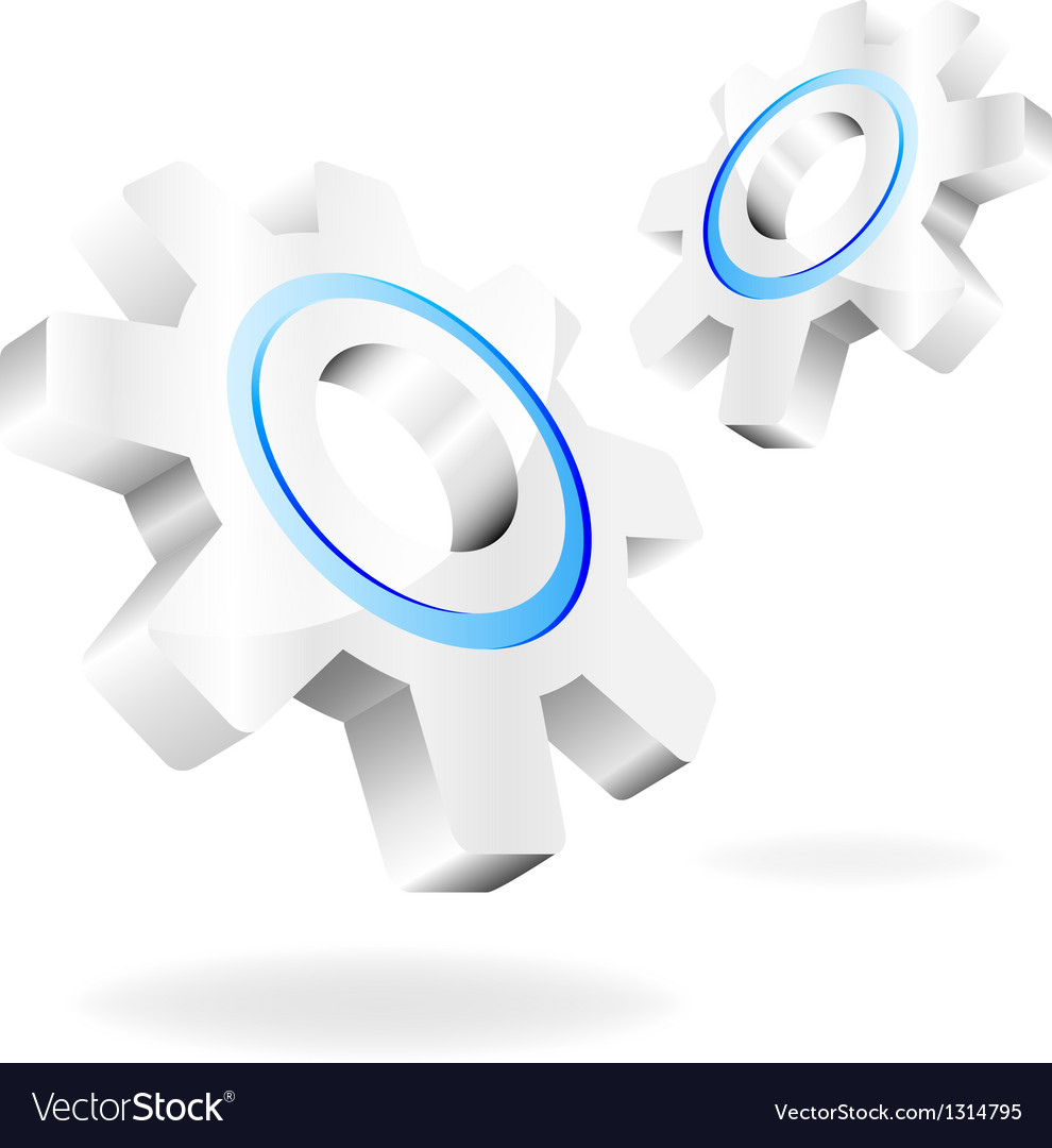 Gears on a white background vector
