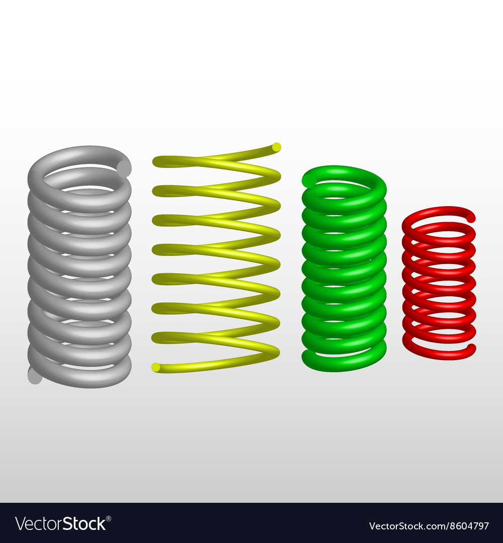 Colored springs vector