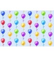 Seamless background with party balloons vector image vector image