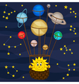 Solar system like balloon vector image