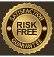 Risk Free Satifaction Guarantee vector image vector image