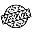 Discipline rubber stamp vector image
