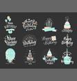 happy birthday badge set vector image
