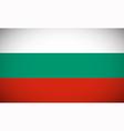 National flag of Bulgaria vector image