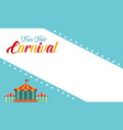 background carnival funfair funny style vector image