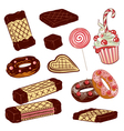 candy sweets waffles vector image