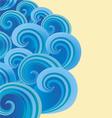 Background of ornate decorative spirals vector image