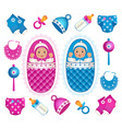 asian twins with accessories vector image vector image