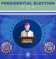 Presidential Election Debates Elephant versus vector image