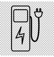 Electric car charging station sign vector image