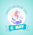 6 may Saint Georgi vector image