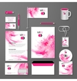 Abstract Corporate identity pink template vector image