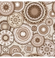 Morocco Pattern in Coffee Colors vector image