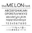 stylish abc retro cute hand drawing font - vector image