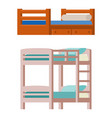 bunk bed icon interior home rest collection vector image