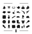 drink animal parking and other web icon in black vector image