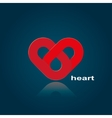 symbol of red heart vector image vector image