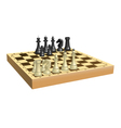 Chess on chessboard vector image