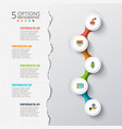 cirlces for infographic with torn paper vector image