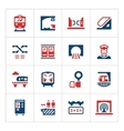 Set color icons of subway vector image