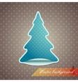 christmas tree sticker vector image