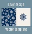 cover design with blue snowflakes pattern vector image