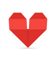 heart made of paper in origami style for vector image