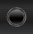 heraldic circle shield on titanium background - vector image