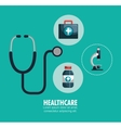 kit healthcare medical service design graphic vector image