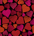 Love theme seamless background hearts seamless vector image