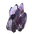 Purple crystal gem stone closeup vector image