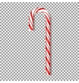 Realistic Xmas candy isolated on transparent vector image
