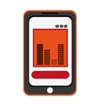 smartphone bars sound icon vector image