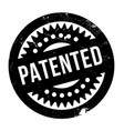 Patented rubber stamp vector image