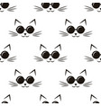 pattern with cats with black sunglasses vector image vector image