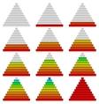 Progress bars set pyramids vector image